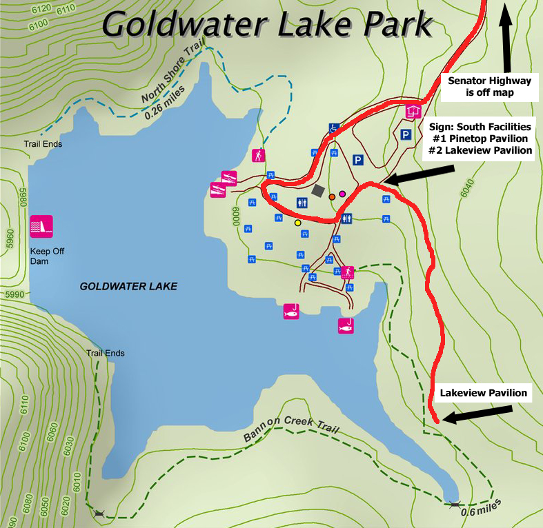 Map Of Arizona Prescott.Lake View Ramada Goldwater Lake Map